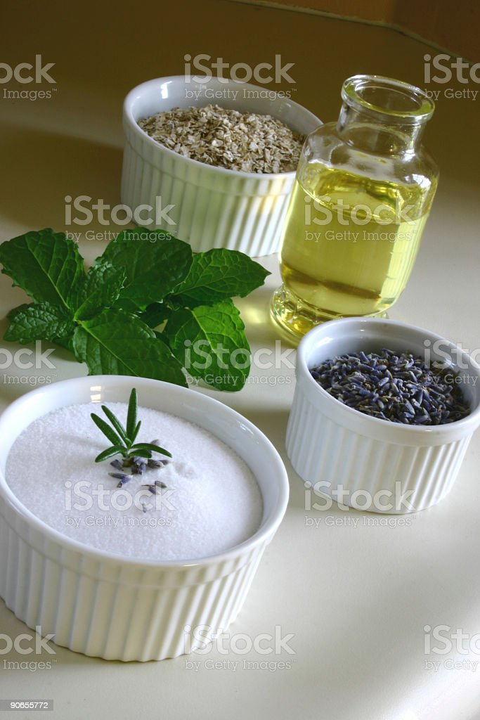 Natural Beauty Ingredients royalty-free stock photo