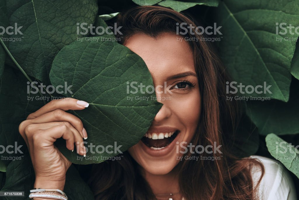 Natural beauty. - Royalty-free Adult Stock Photo