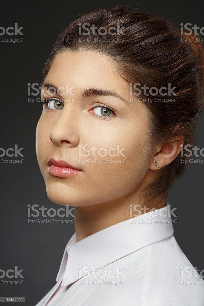 Natural Beauty Portrait   Young  Woman   Businesswoman stock photo