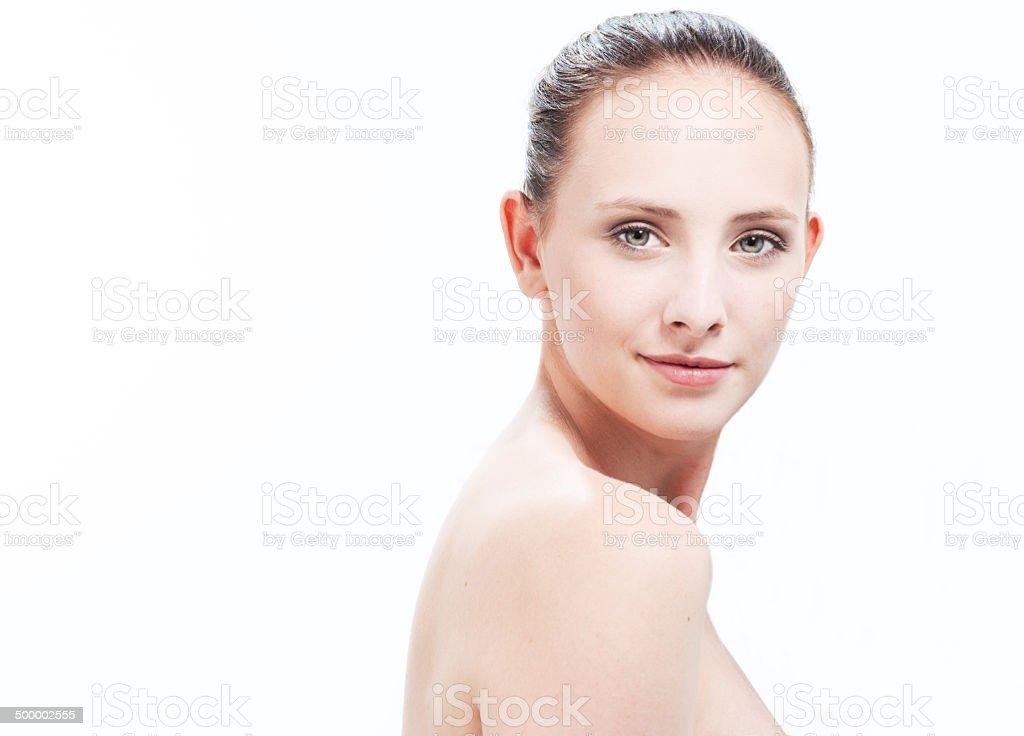 Natural beauty shot stock photo