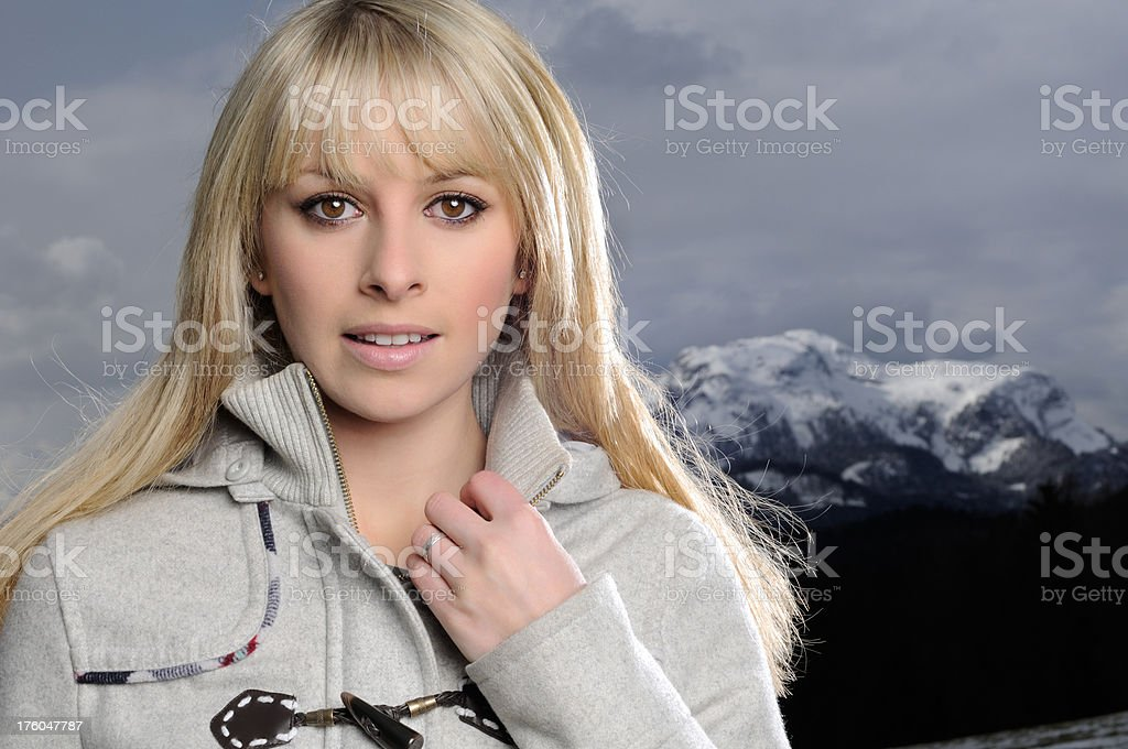 Natural Beauty Winter Outdoor Portrait royalty-free stock photo