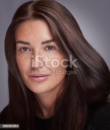 istock Natural Beauty with clean фтв Perfect Fresh Skin. 586360954