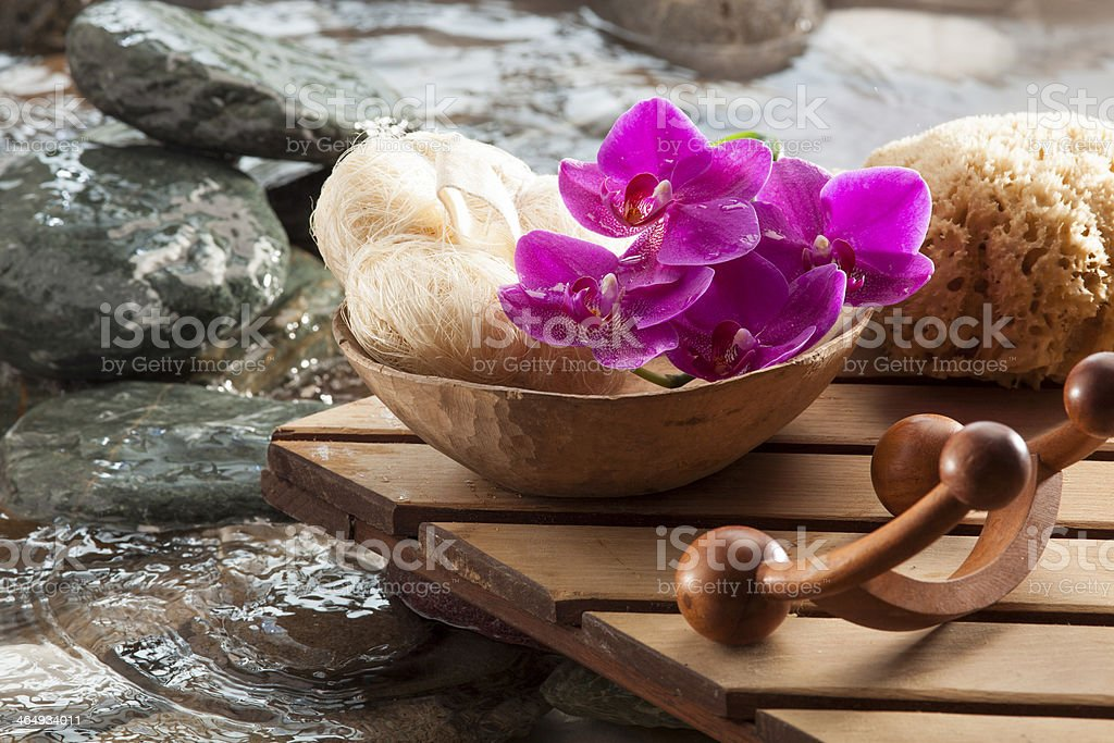 natural beauty with water hydration stock photo