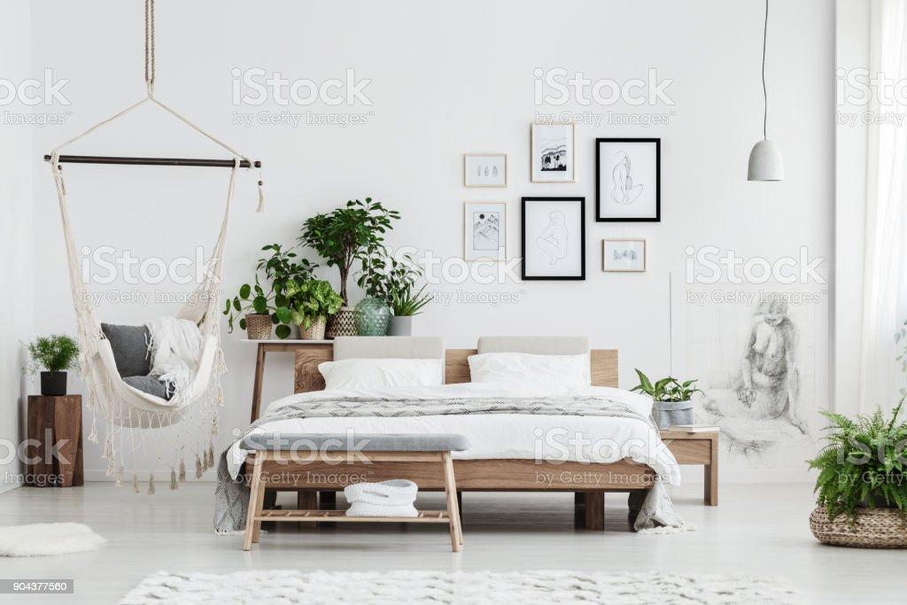 Photo De Stock De Chambre Naturelle Avec Affiches Images Libres De