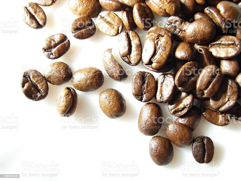 Natural black coffee beans background 2 stock photo