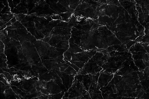 Natural Black Marble Texture For Skin Tile Wallpaper