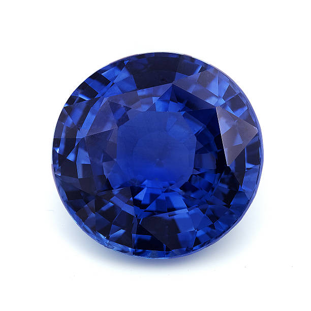 Natural Blue Sapphire stock photo
