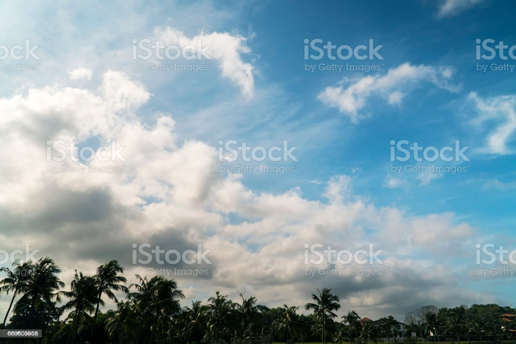 natural blue sky with cloud background on summer day royalty-free stock photo