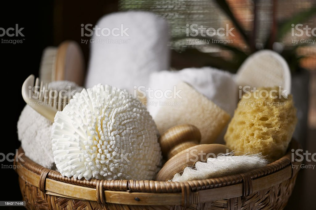 Natural Body Care Items stock photo