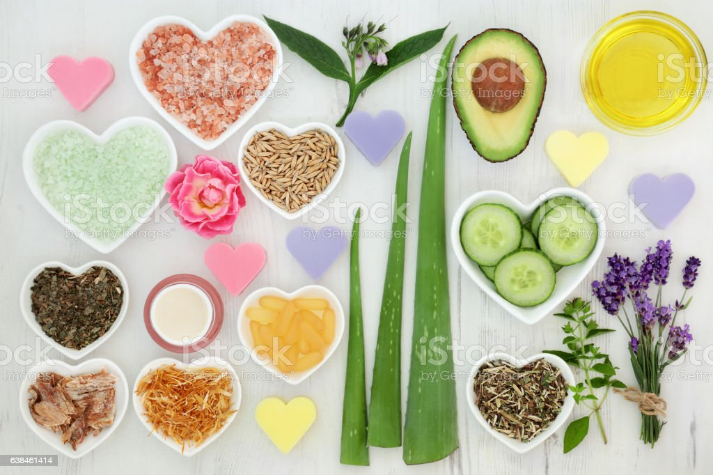 Natural Body Care Products stock photo