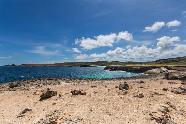 Natural Bridge, Aruba stock photo