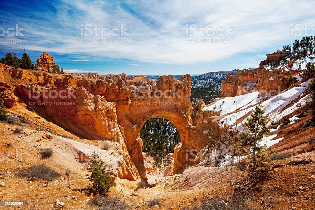natural bridge at bryce canyon stock photo