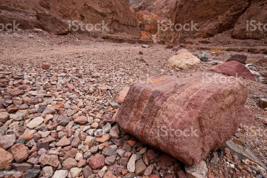 Striped Boulder stock photo