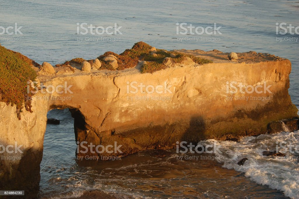 A natural bridge, one of nature's masterpieces. stock photo