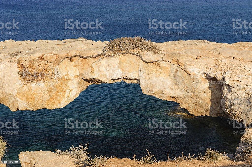 Natural bridge over the sea royalty-free stock photo