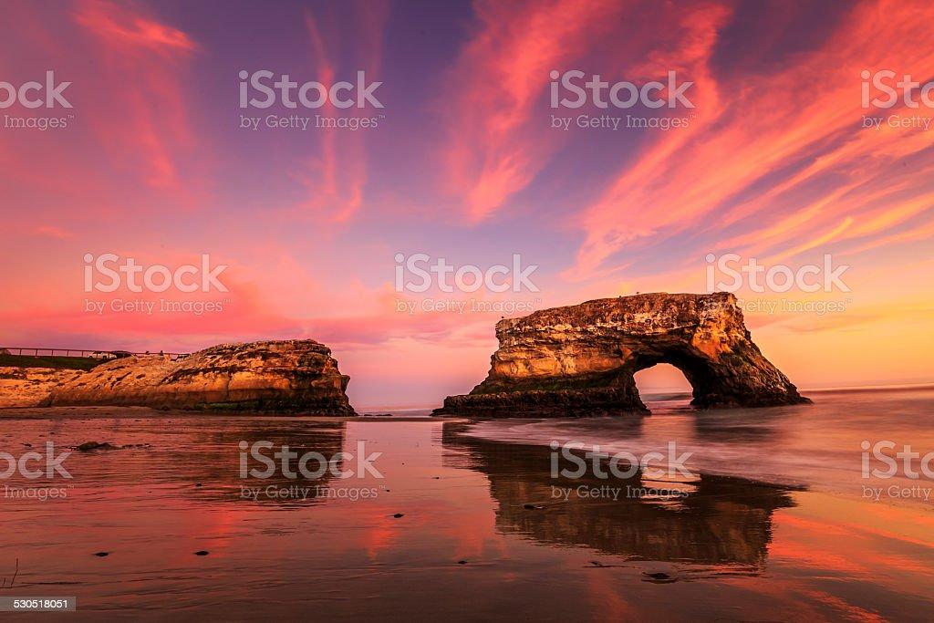 Natural Bridge, Santa Cruz, California stock photo