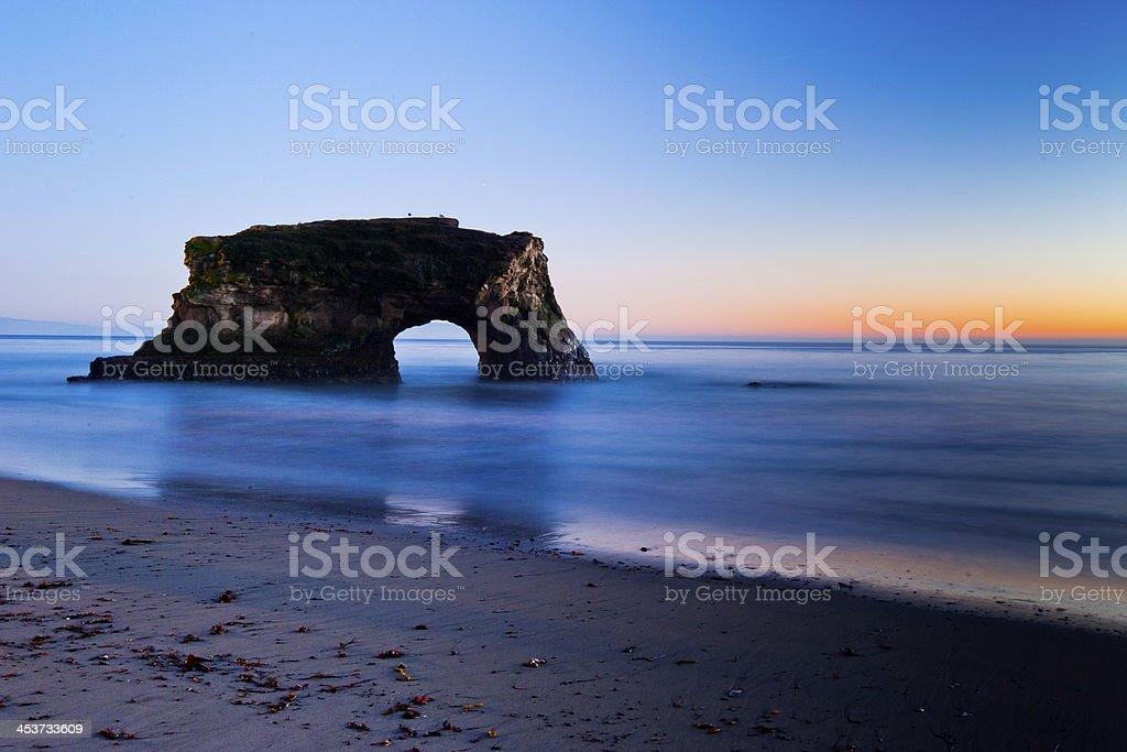 Natural Bridges State Beach stock photo