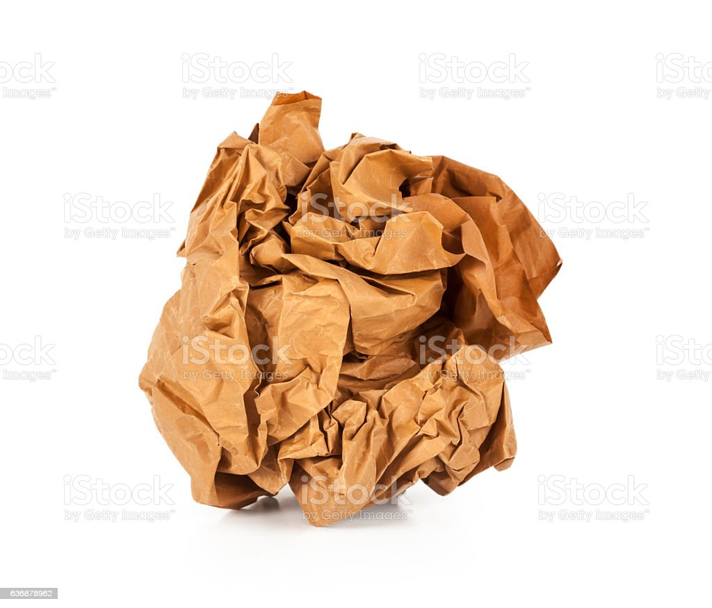 Natural brown paper on white background - Photo