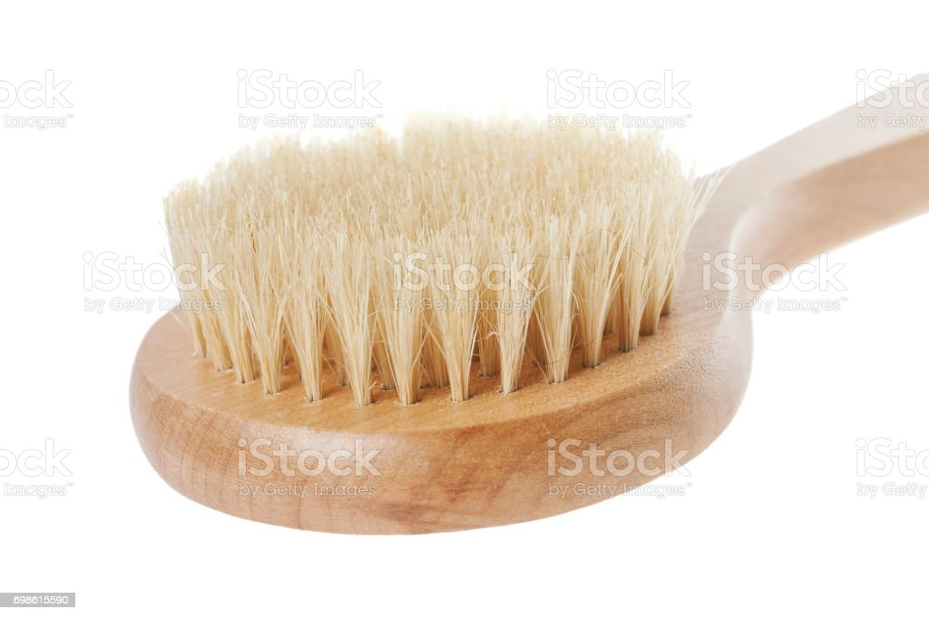 natural brush for washing stock photo
