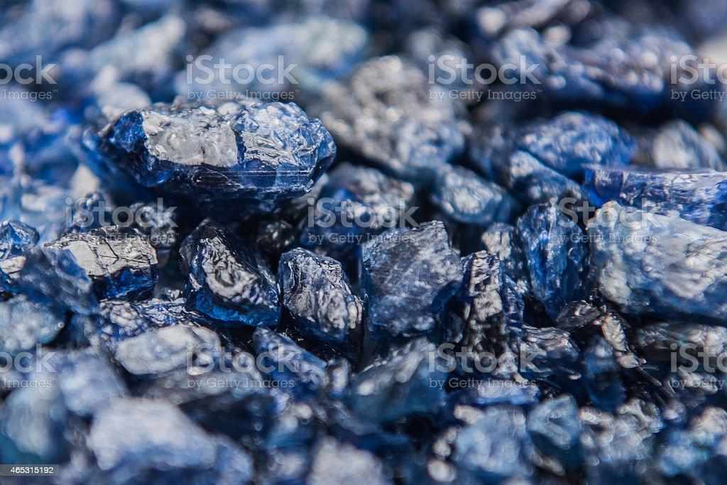 Natural Burmese rough sapphire stock photo