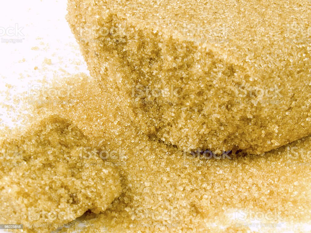 Naturale di zucchero di canna foto stock royalty-free