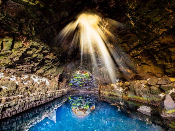 Natural cave and pool Jameos del Agua