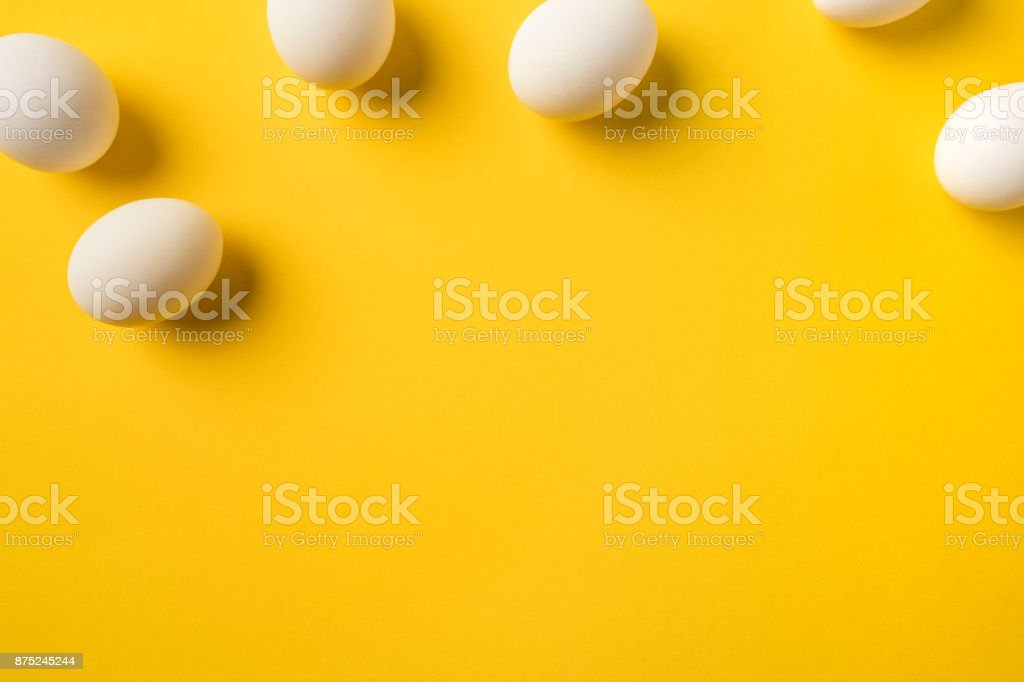 Natural Chicken eggs stock photo