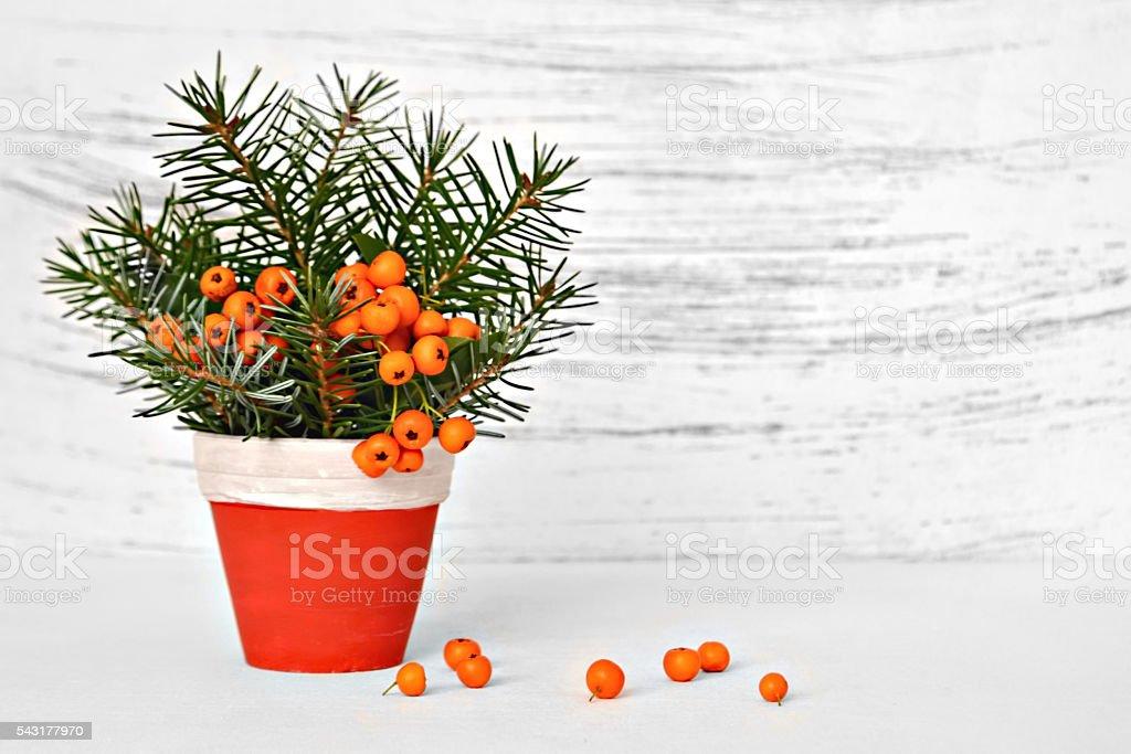 Natural Christmas decoration stock photo