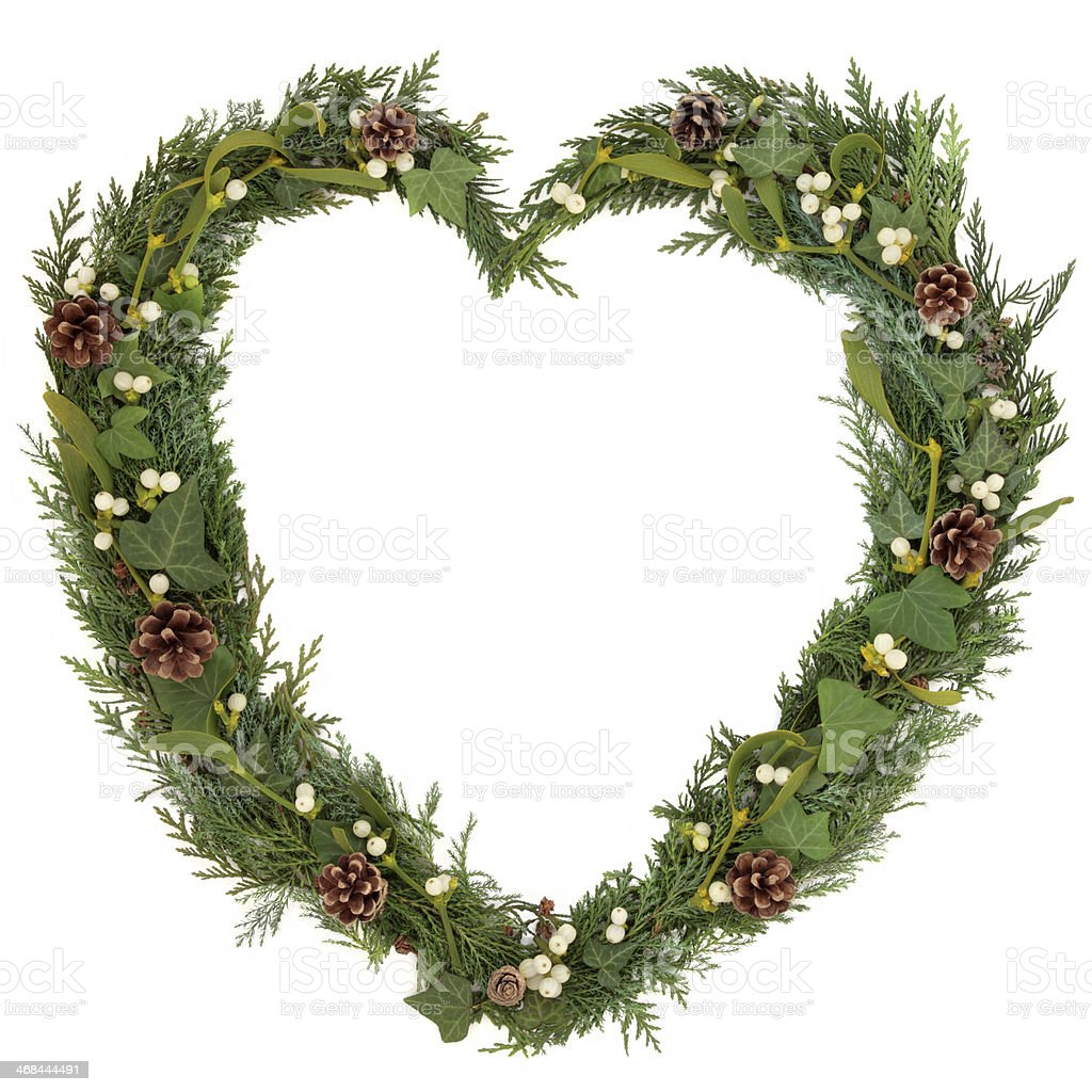 Natural Christmas Wreath royalty-free stock photo
