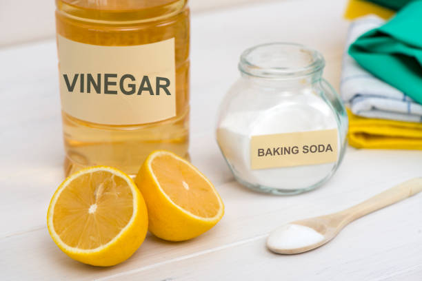 Natural Cleaners Natural Cleaners vinegar stock pictures, royalty-free photos & images