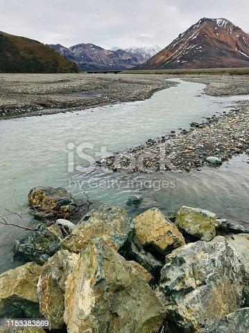 Natural color beauty in Toklat River, Denali National Park and Preserve, Alaska