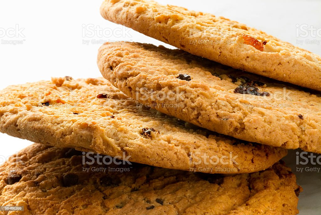 Cookie macro naturale foto stock royalty-free
