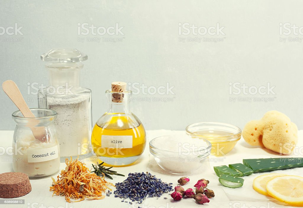 Natural Cosmetic Ingredients royalty-free stock photo
