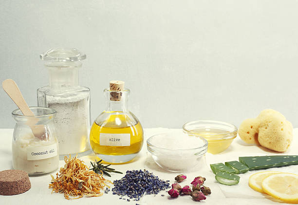 Natural Cosmetic Ingredients - foto de acervo
