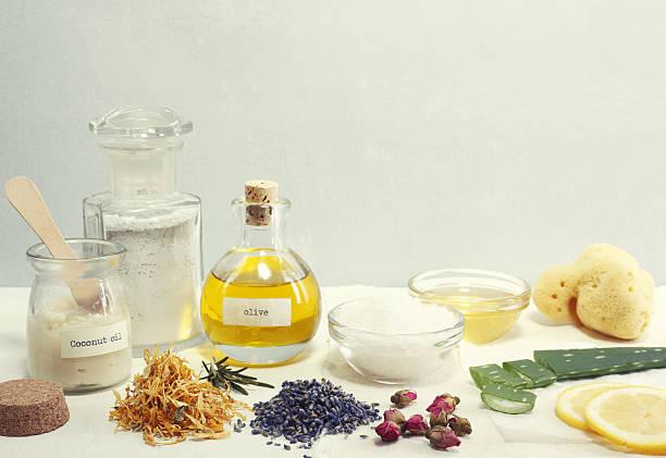 Natural Cosmetic Ingredients - foto de stock