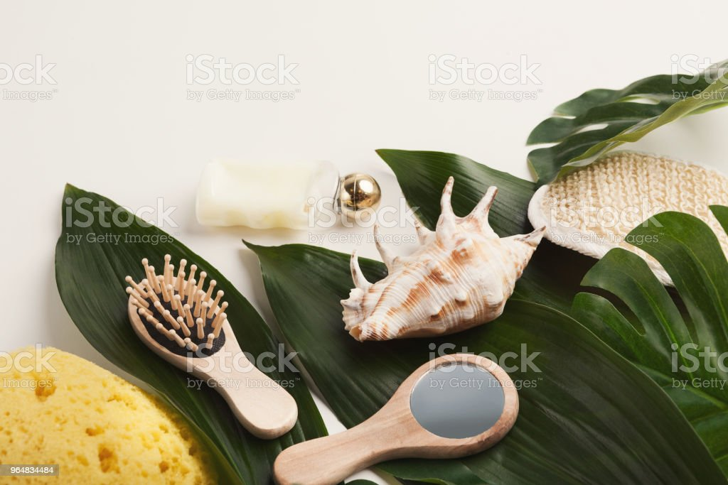 Natural cosmetics for home or salon spa treatment royalty-free stock photo