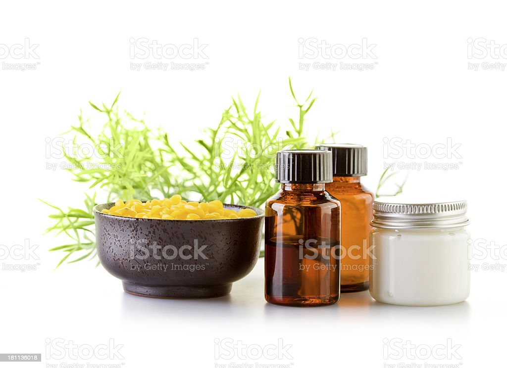 Natural cosmetics stock photo