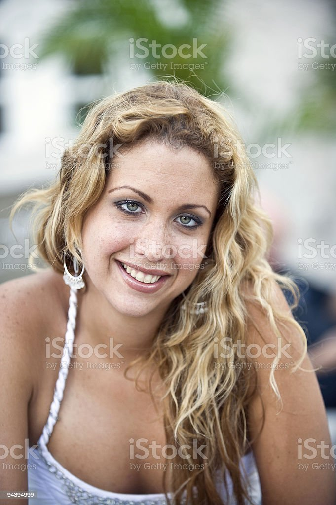 Natural crossed eyes royalty-free stock photo