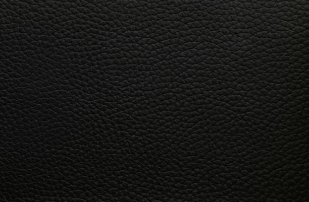 Natural dark black leather texture Natural pattern stock photo
