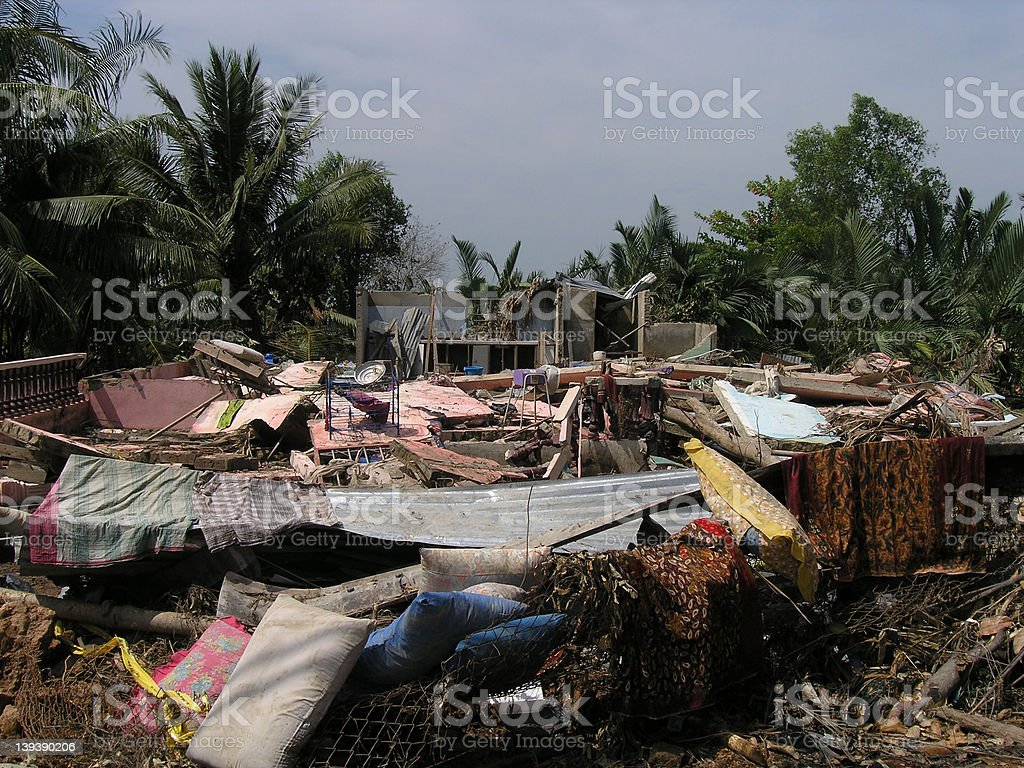 Natural disaster leaves many homeless stock photo