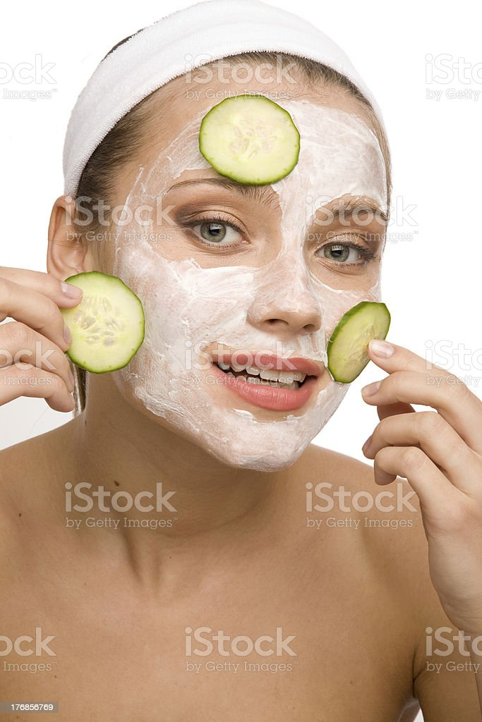 Natural face care royalty-free stock photo