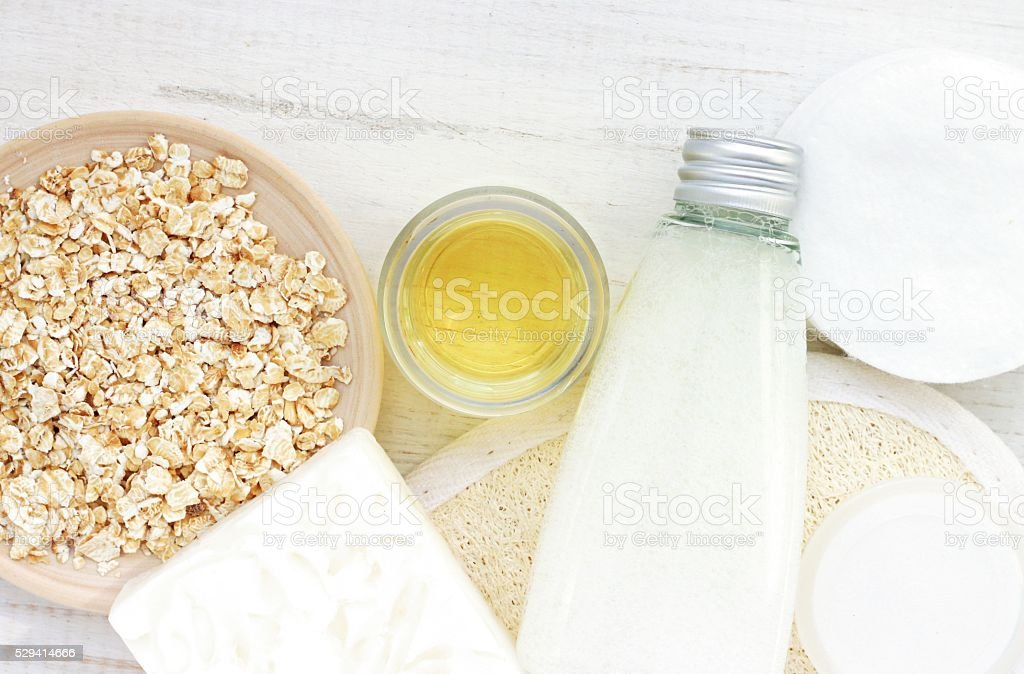 Natural domestic products for skincare. stock photo