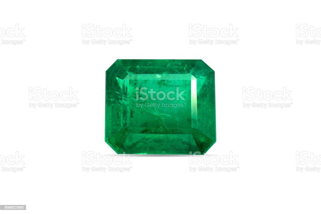 Natural Emerald gemstone stock photo