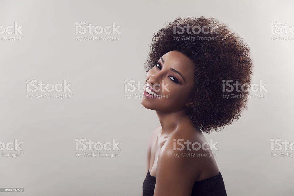Natural ethnic beauty stock photo