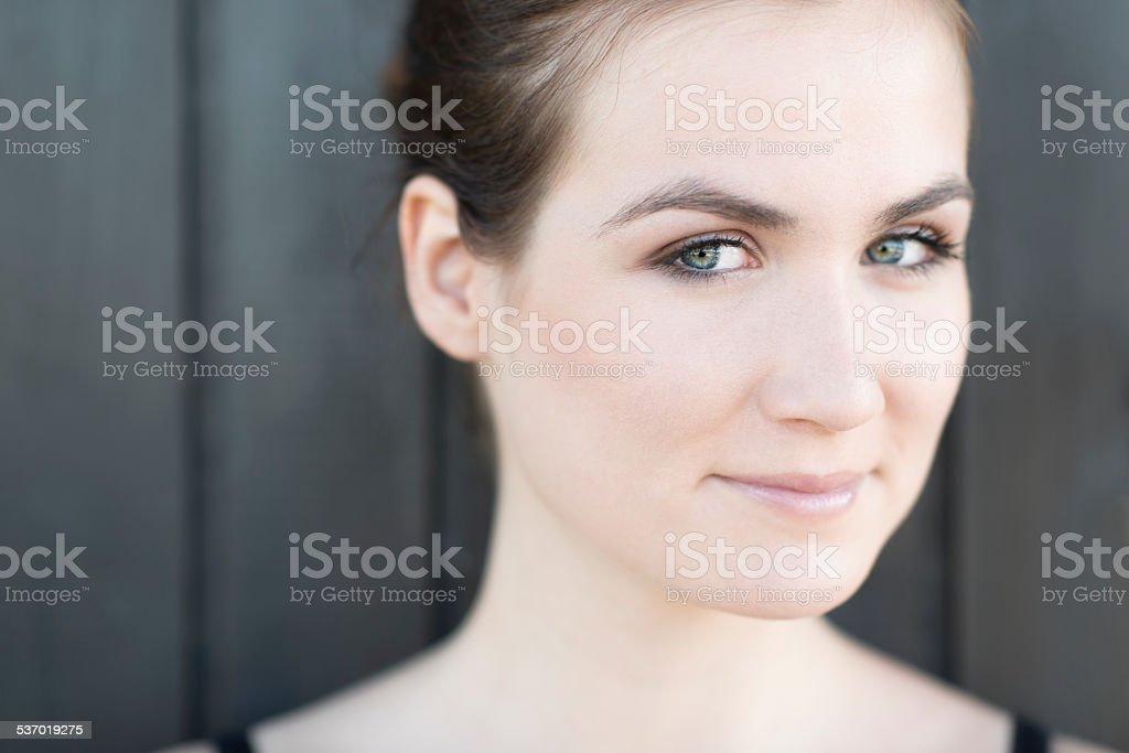 Natural Female Summer Beauty Portrait Close-up royalty-free stock photo