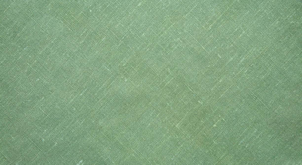 natural flax diagonal weave textile background - tovaglia foto e immagini stock