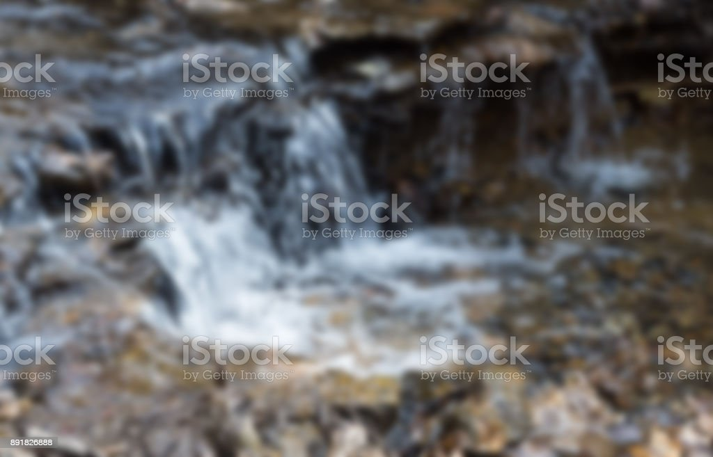 Natural Flow Of Falling Water Blurred Photo Horizontal Background