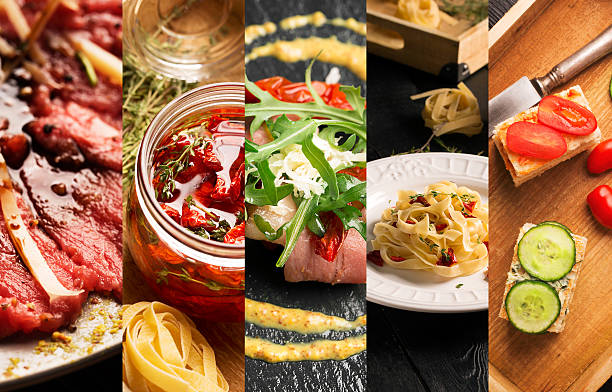 natural food (various cuisines) - italian food stock photos and pictures