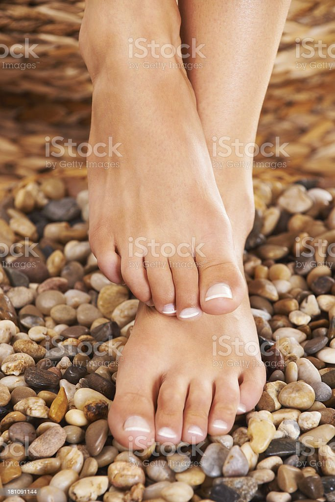 Natural foot treatment royalty-free stock photo