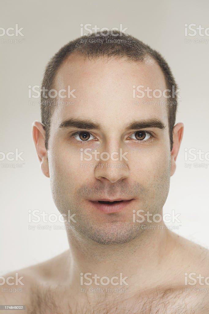 Natural Fresh Male Beauty. royalty-free stock photo